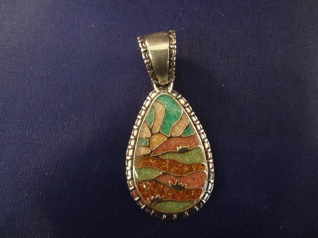 Carolyn Pollack Sterling Silver (6) Multi Stone Inlay - 3