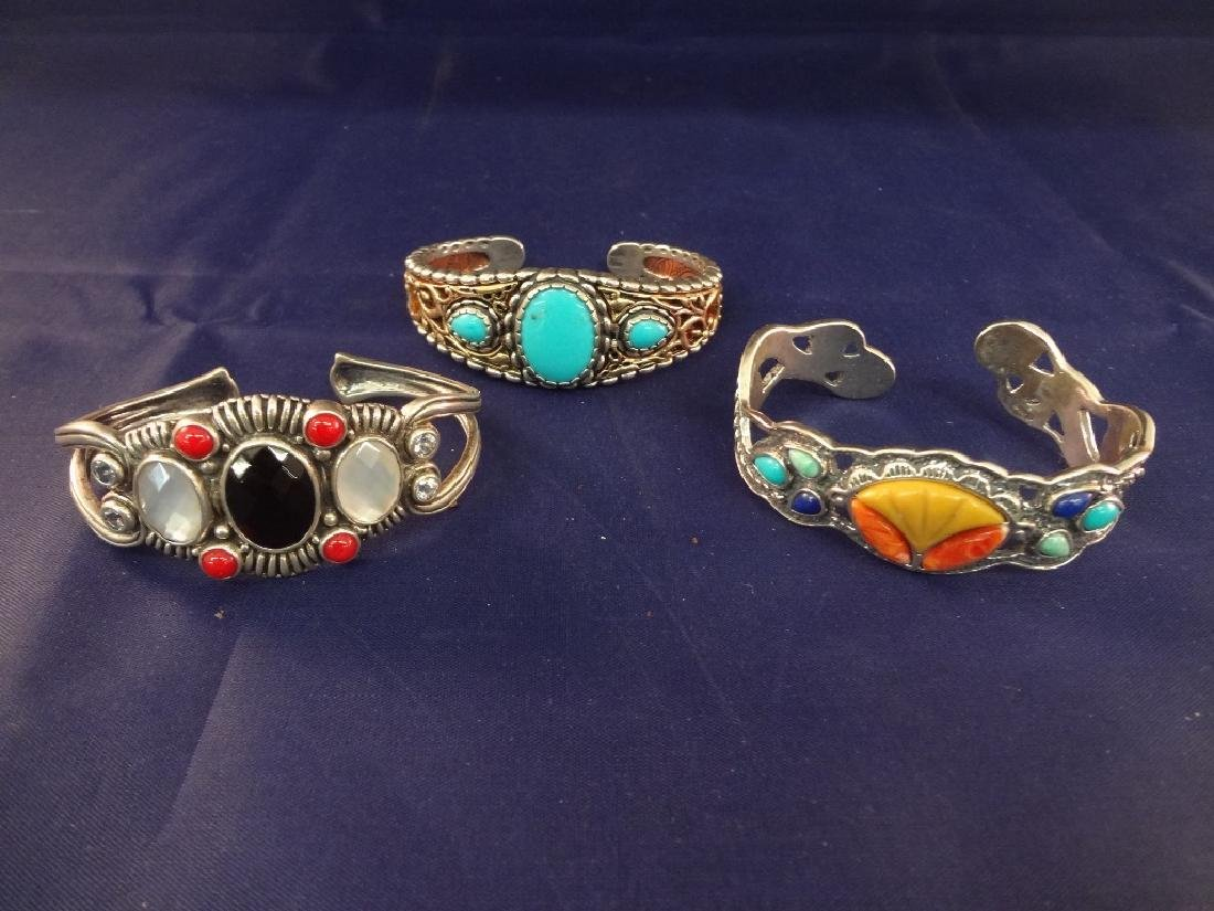Carolyn Pollack Sterling Silver and Stone Cuff