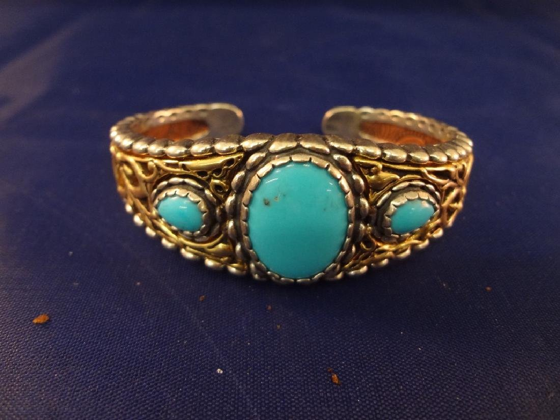 Carolyn Pollack Sterling Silver and Stone Cuff - 3