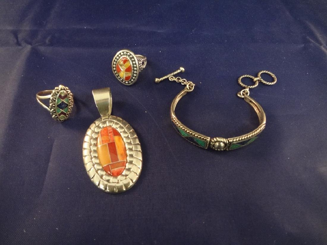 Carolyn Pollack Sterling Silver Jewelry Group: (2)