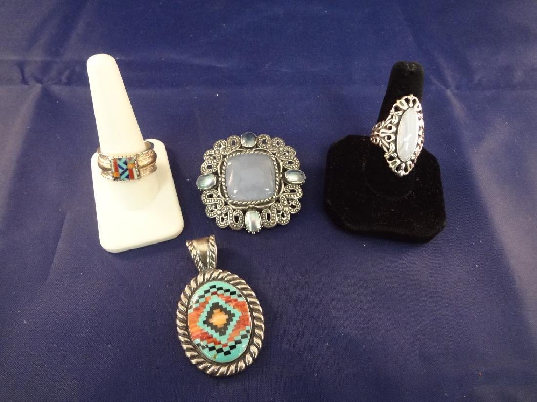 Carolyn Pollack Sterling Silver Multi Color Stone Rings