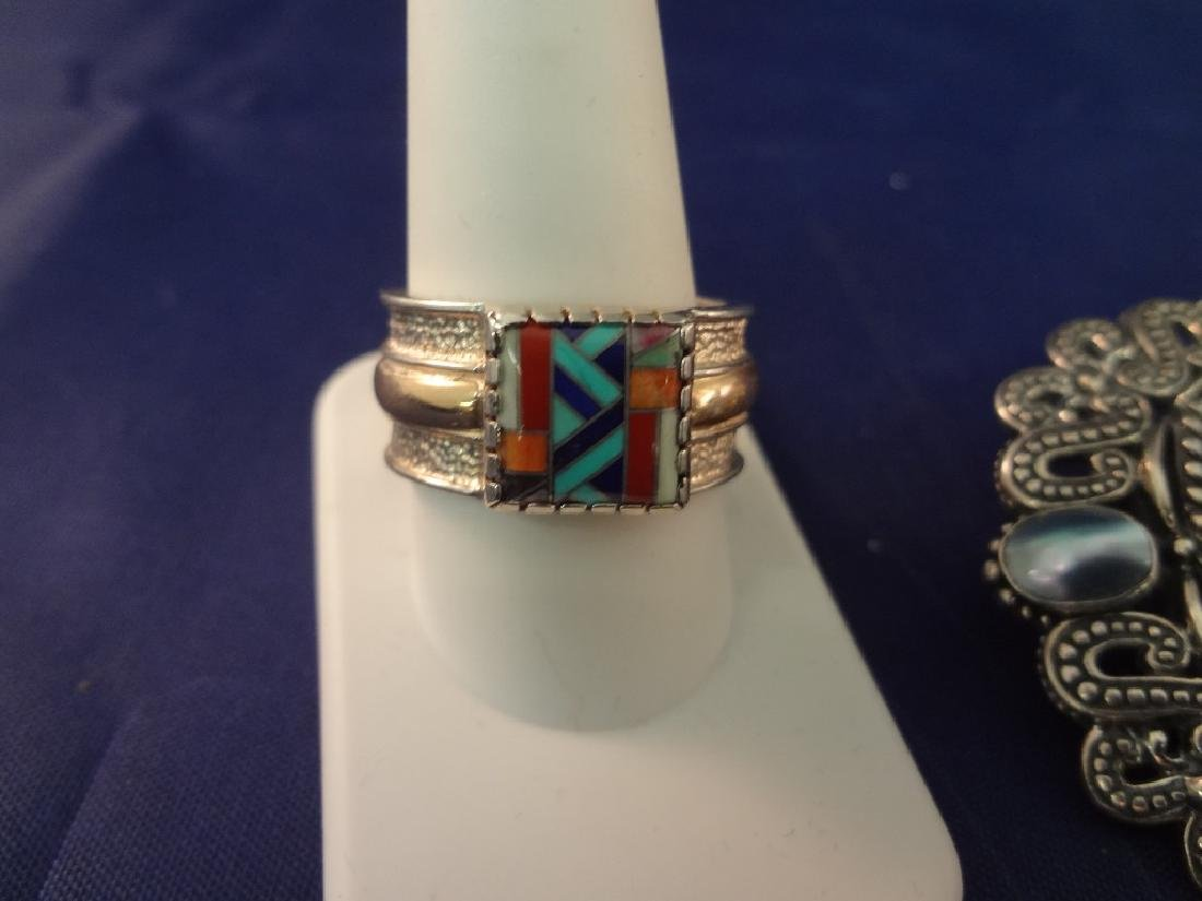Carolyn Pollack Sterling Silver Multi Color Stone Rings - 3