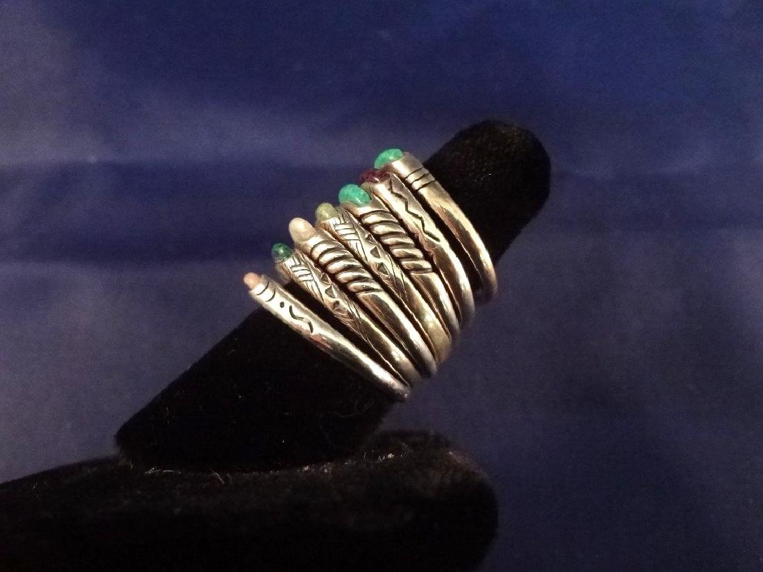 (7) Carolyn Pollack Relios Sterling Silver Inlay Stone - 2