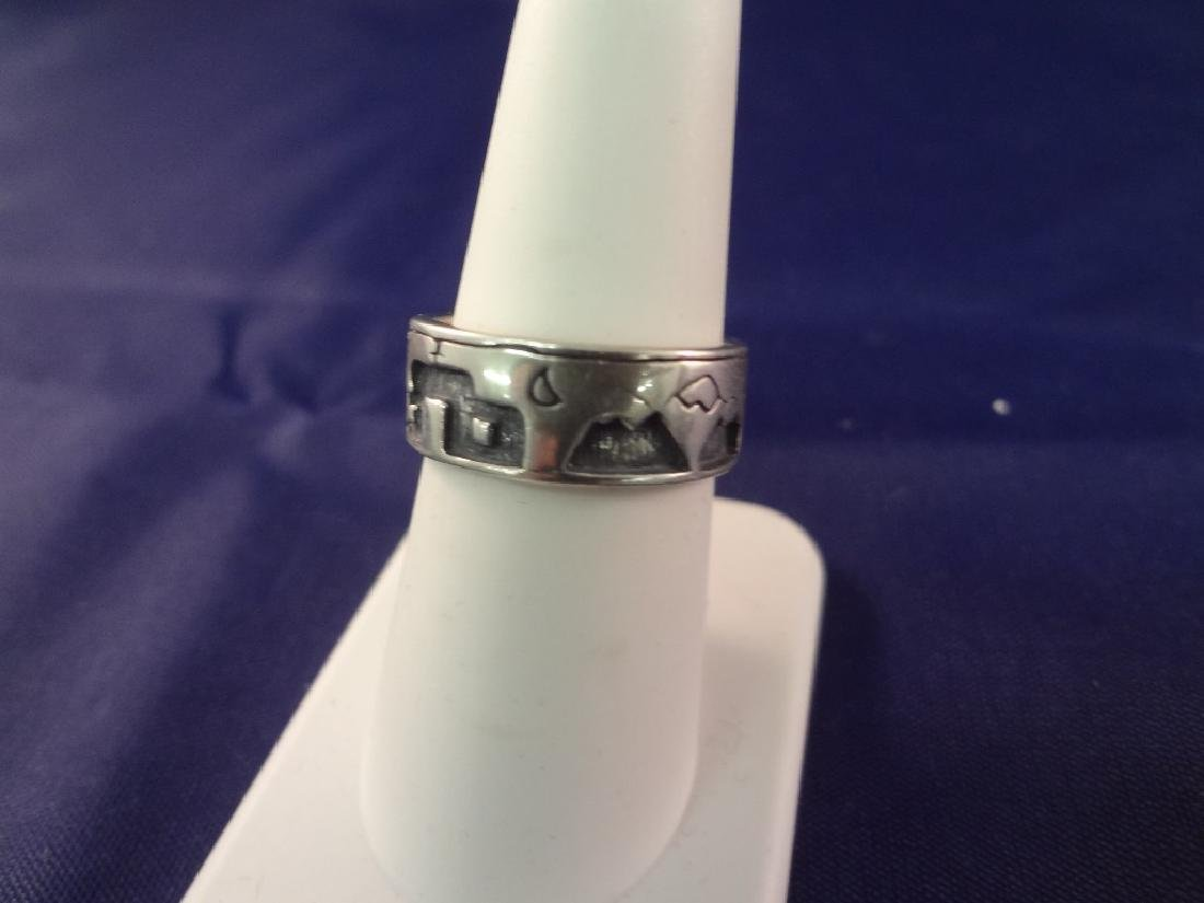 (5) Carolyn Pollack Sterling Silver and Turquoise Rings - 3
