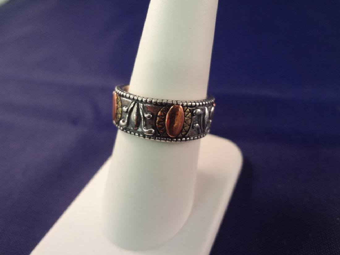 (5) Carolyn Pollack Sterling Silver and Turquoise Rings - 6
