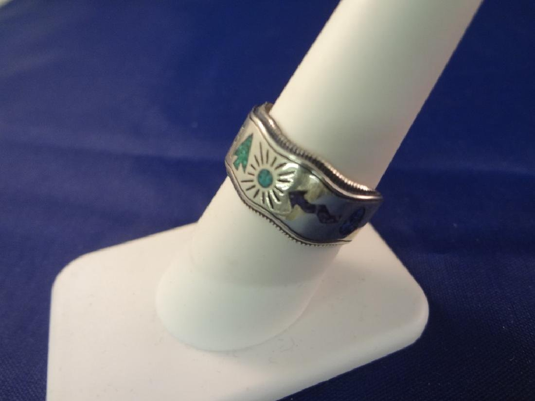 (5) Carolyn Pollack Sterling Silver and Turquoise Rings - 7