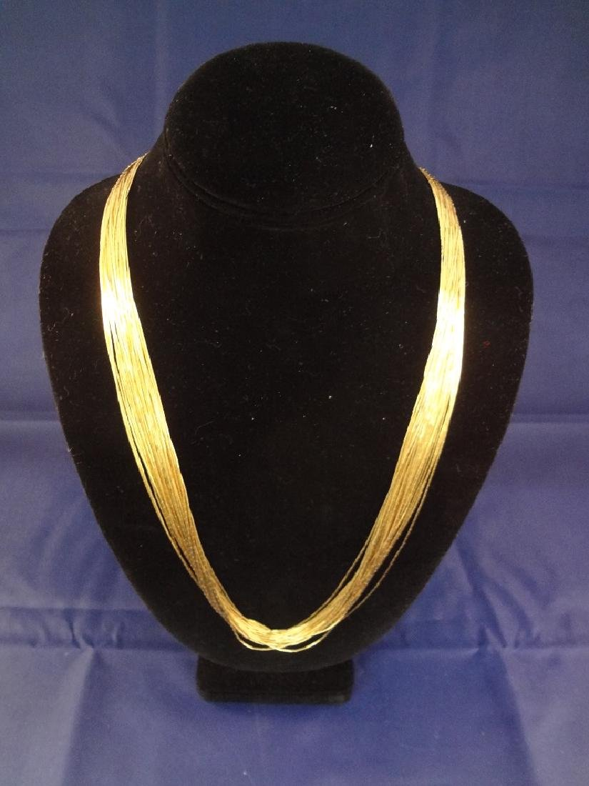 """Sterling Liquid Silver Gold Plated 30"""" in Length"""