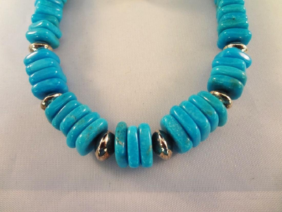 Southwest Sterling Silver And Turquoise Group: (4) - 2