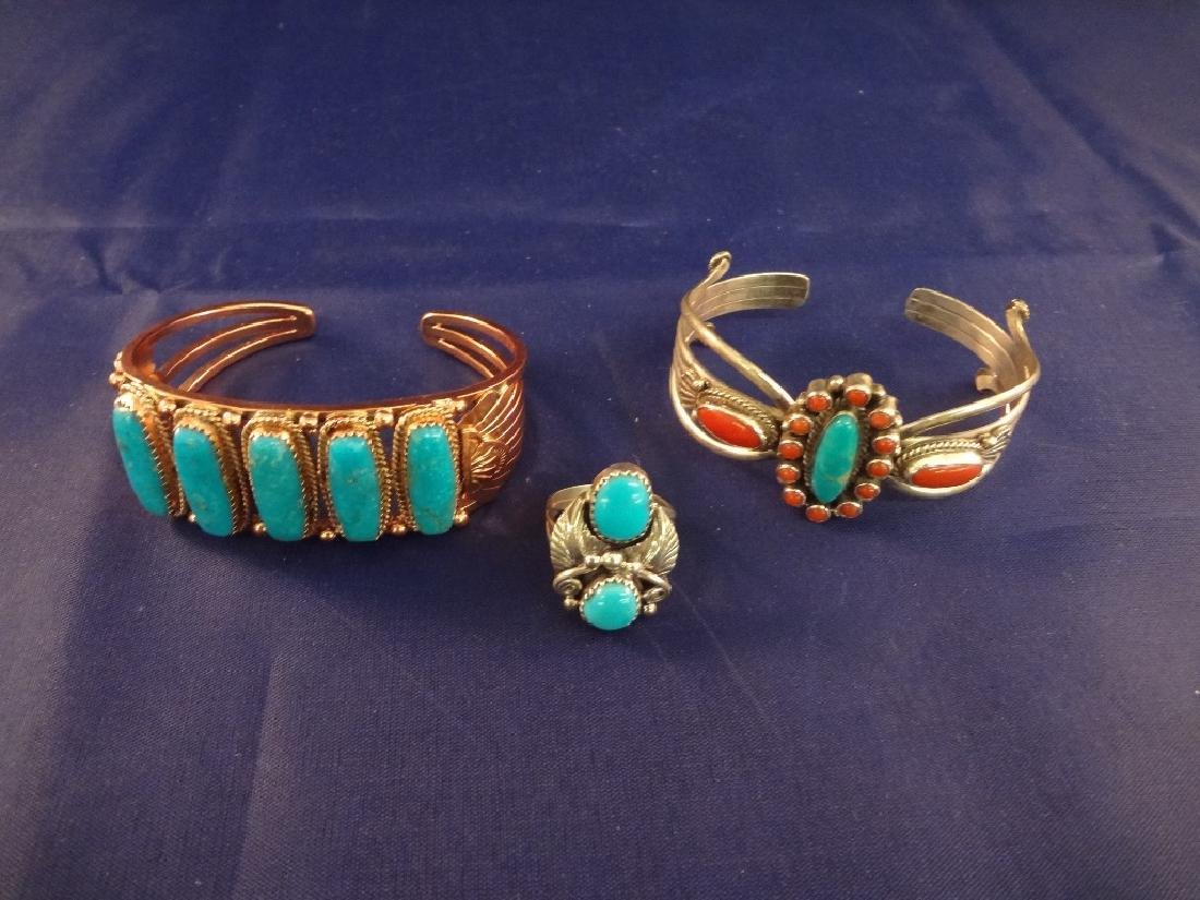 Running Bear Sterling, Brass and Turquoise Jewelry