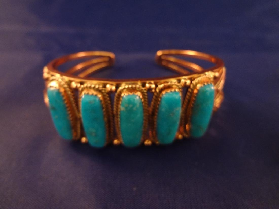Running Bear Sterling, Brass and Turquoise Jewelry - 2