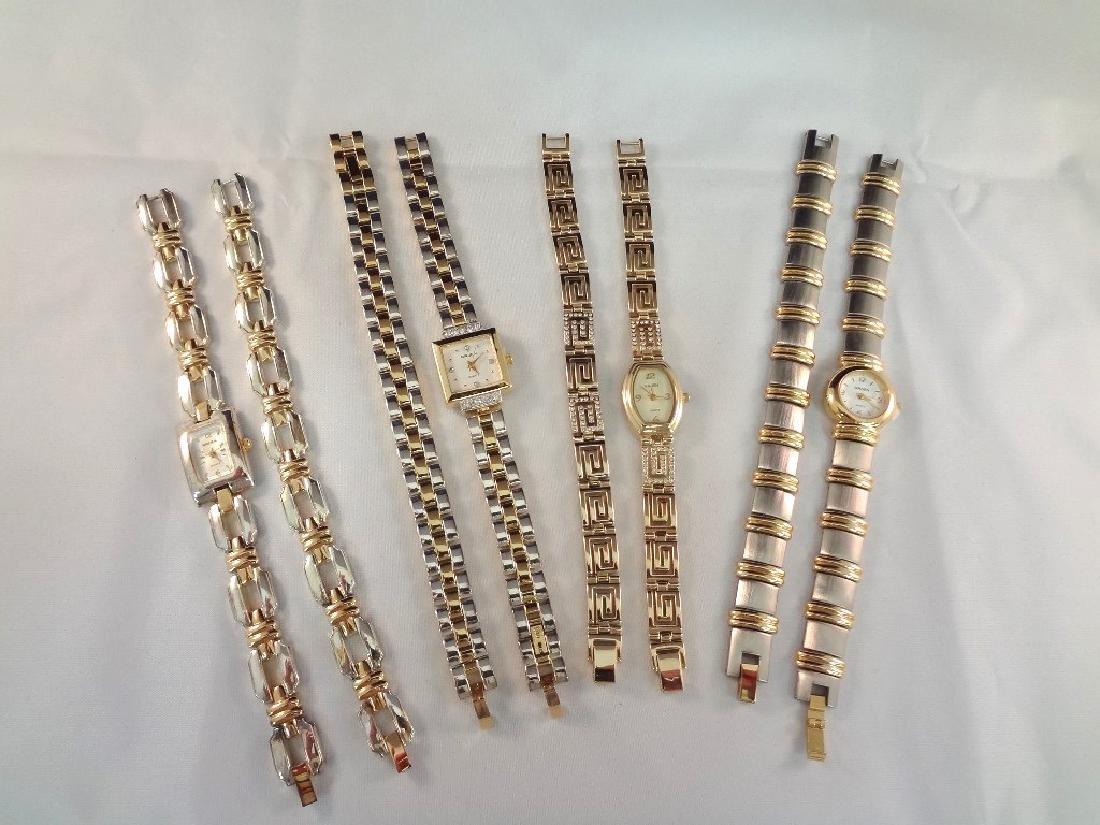 (4) Gruen Watch and Bracelet Matching Sets