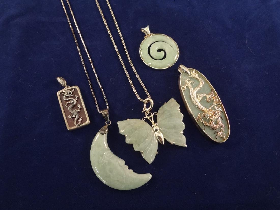 Sterling Silver Jade Pendants, Necklaces