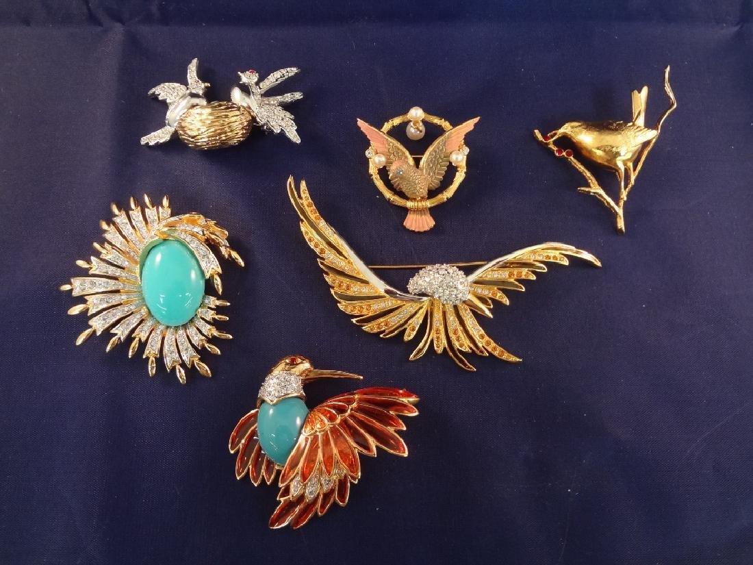 Joan Rivers Vintage Bird Brooches (6)