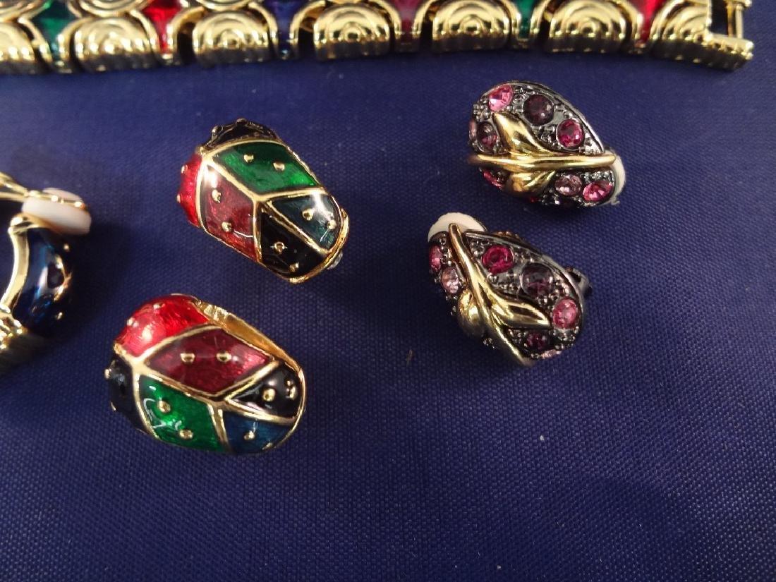 Joan Rivers (2) Bracelets, (1) Brooch, (5) Clip On - 4