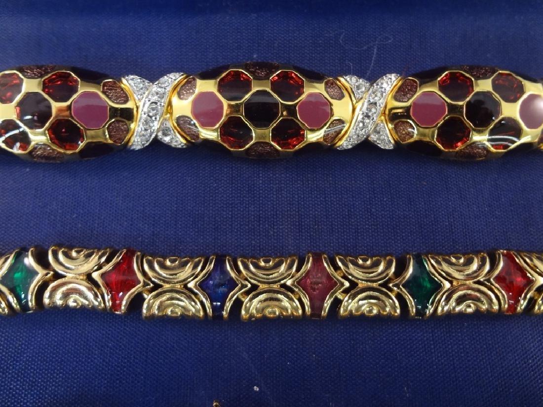 Joan Rivers (2) Bracelets, (1) Brooch, (5) Clip On - 6