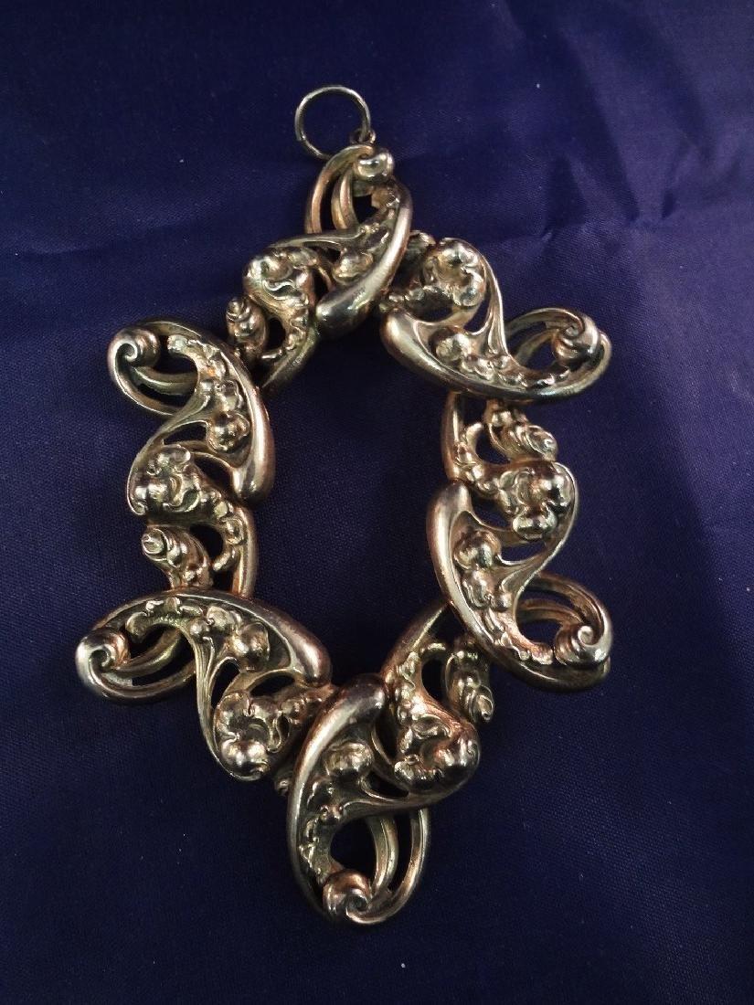 Sterling Silver Art Deco Jewelry: Ring, Massive - 2