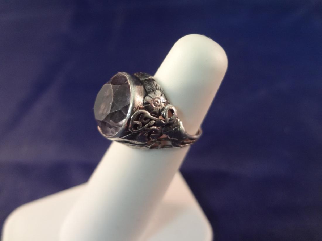 Sterling Silver Art Deco Jewelry: Ring, Massive - 7