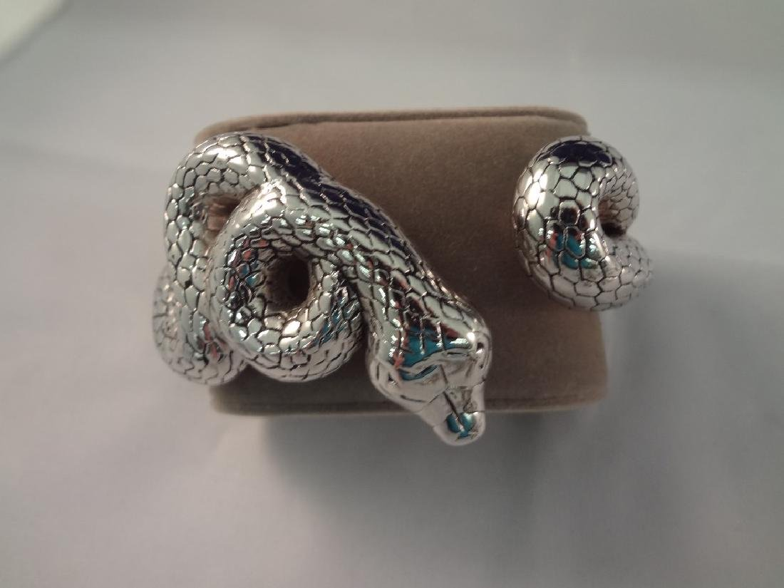 Sterling Silver Snake Jewelry Group: Ring, (3) - 2