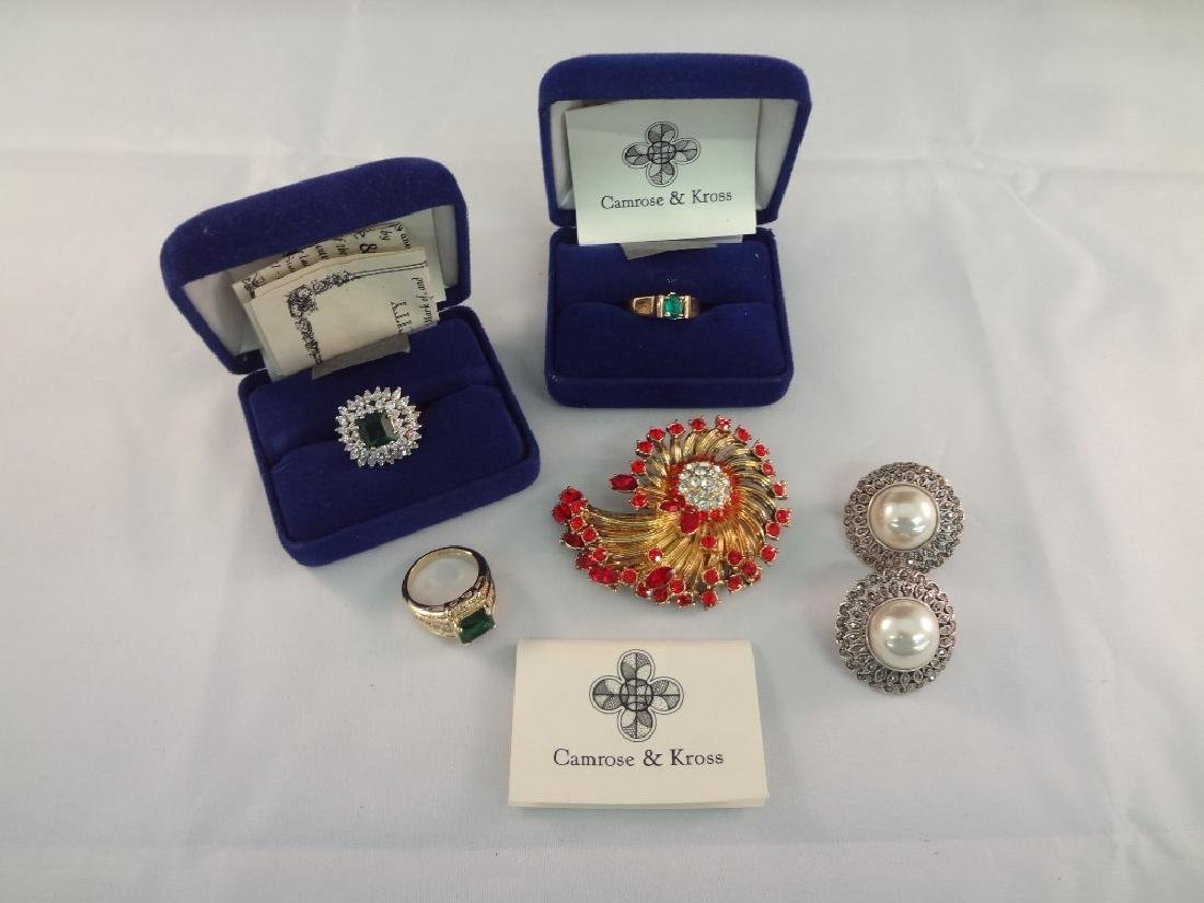 Jacqueline Bouvier Kennedy (3) Rings, Earrings, and