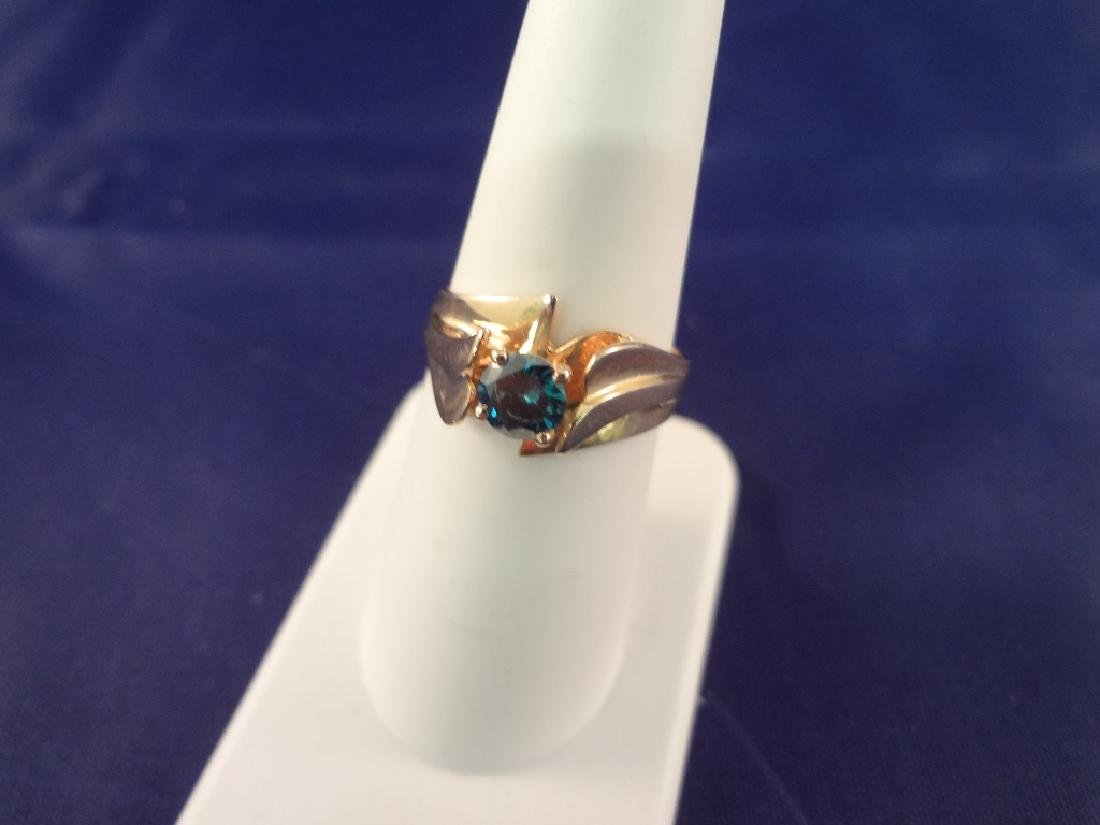 14k Gold Ring with Diamond/Sapphire: