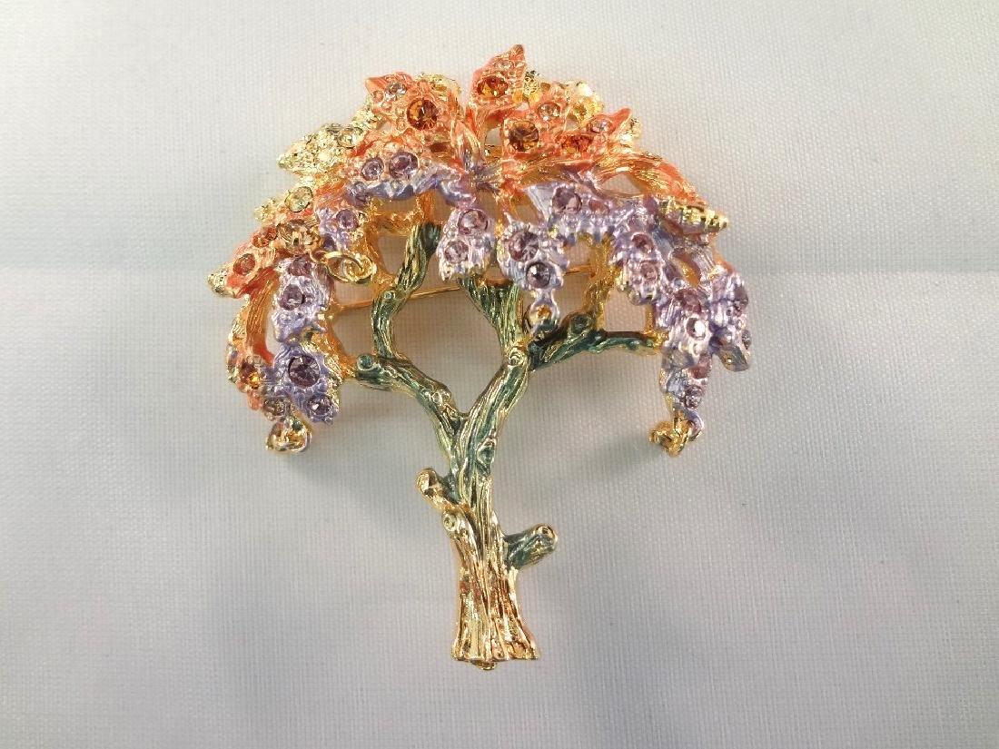 (3) Graziano Brooches Original Boxes: Fish, Tree, - 2