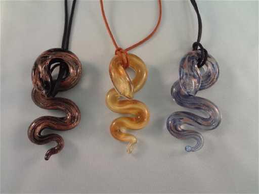 3 venetiaurum murano glass snake pendants 3 venetiaurum murano glass snake pendants aloadofball Gallery
