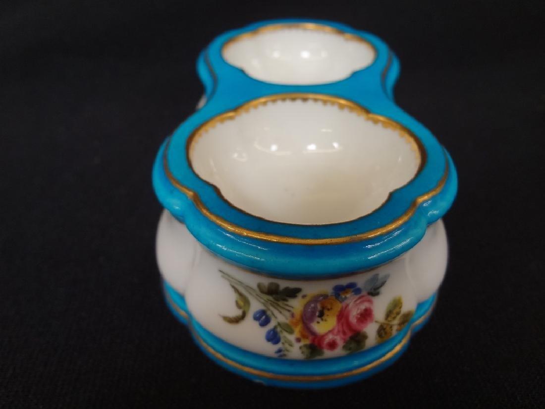 Sevres French Porcelain (2) Salt Cellars Pierre Louis - 3