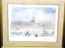 """Salvador Dali Signed Lithograph """"Academy of France"""""""