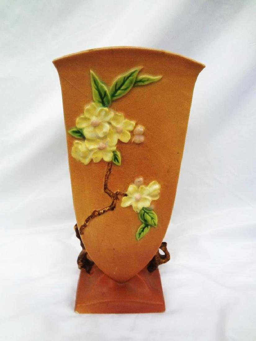 Roseville Pottery Apple Blossom Planter and Vase - 4