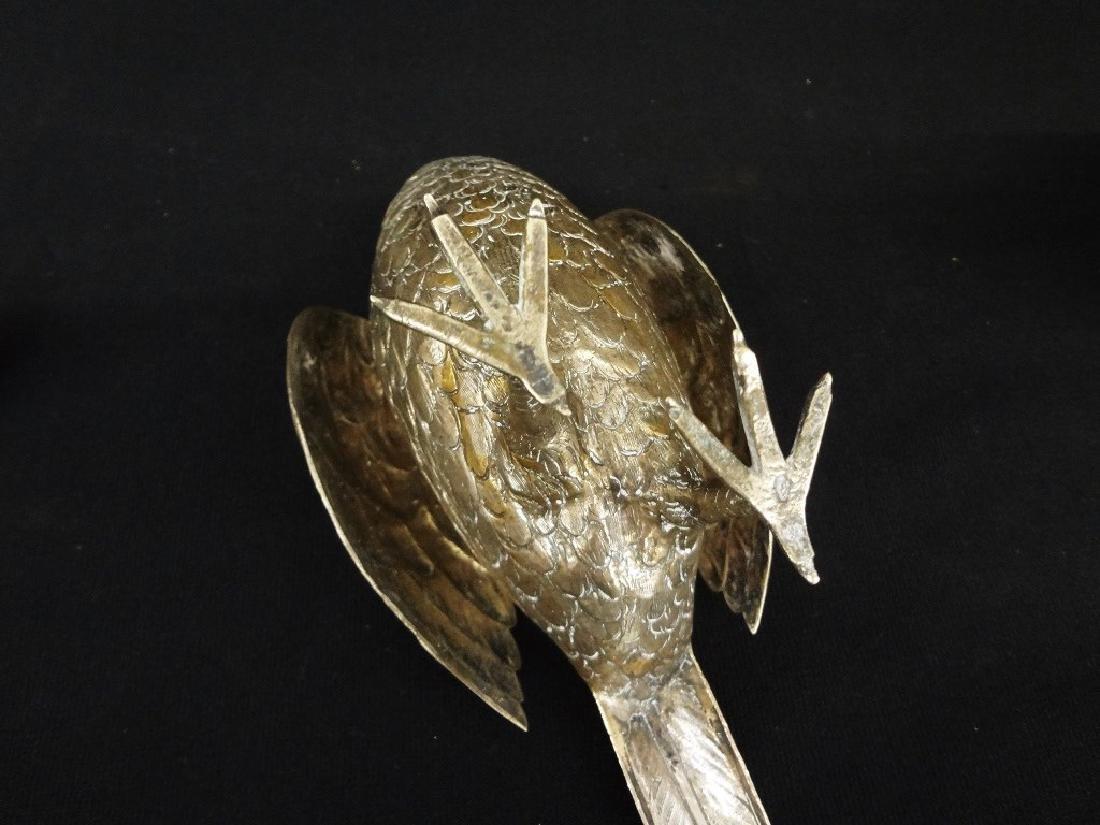 German Silver Pair Pheasant Decanters - 7