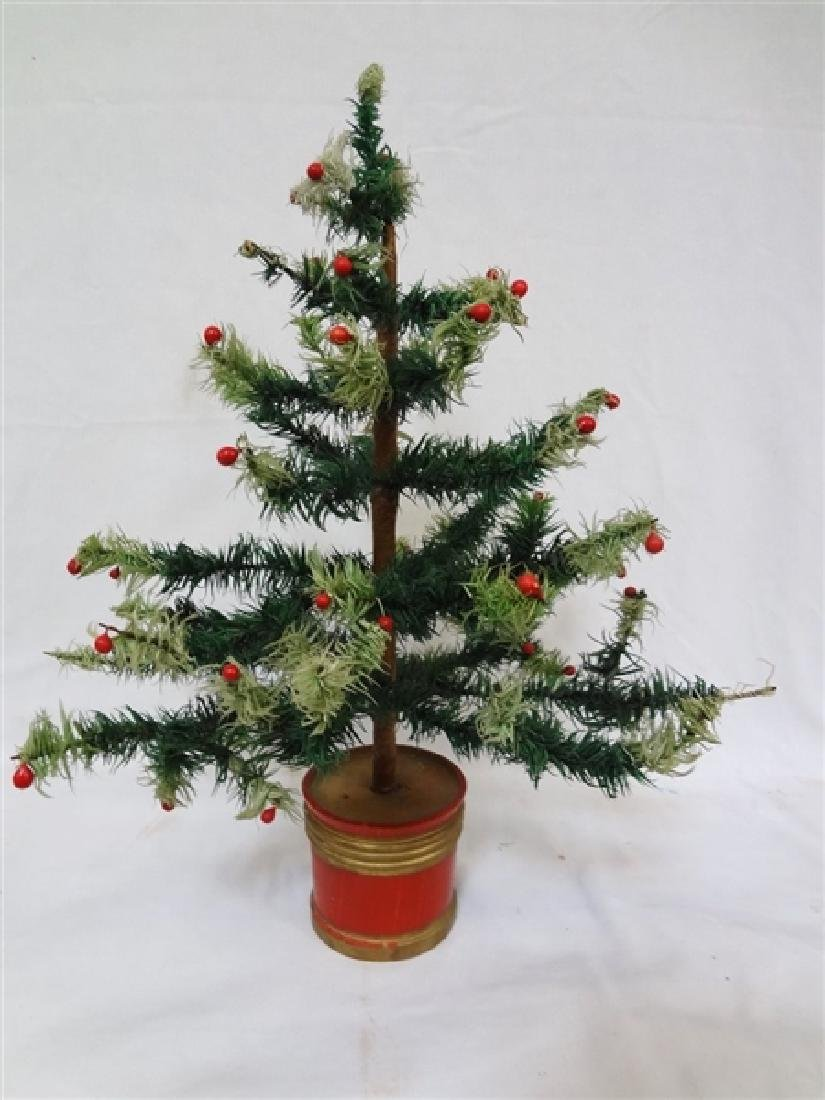 Vintage early 20th century Feather Christmas Tree