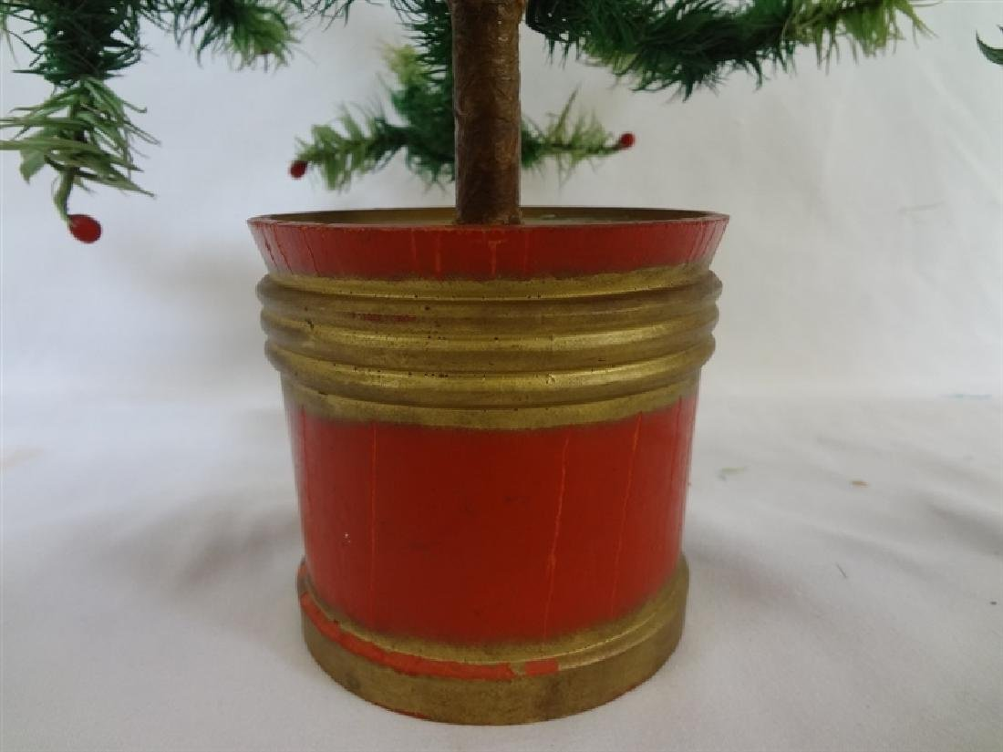 Vintage early 20th century Feather Christmas Tree - 3