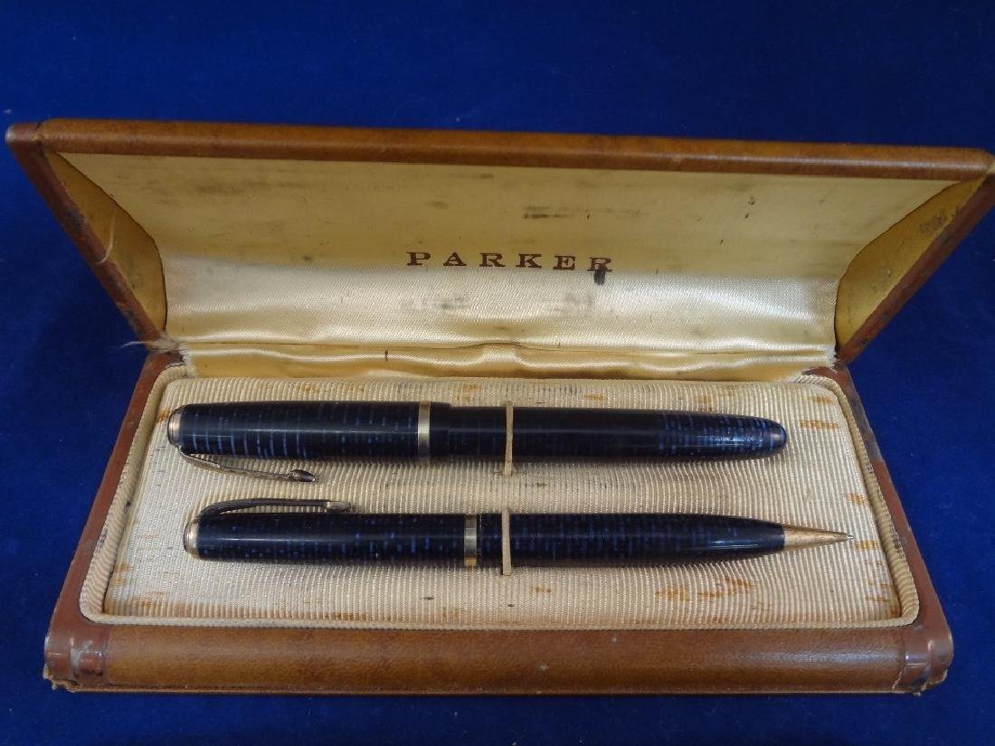 (9) Parker Fountain Pens and (1) Pencil Group - 2