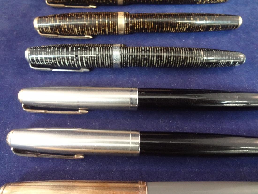 (9) Parker Fountain Pens and (1) Pencil Group - 4
