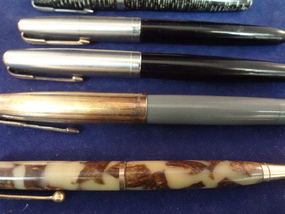 (9) Parker Fountain Pens and (1) Pencil Group - 5