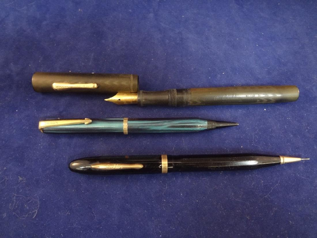 (3) Conklin Chicago Fountain Pens and Pencils