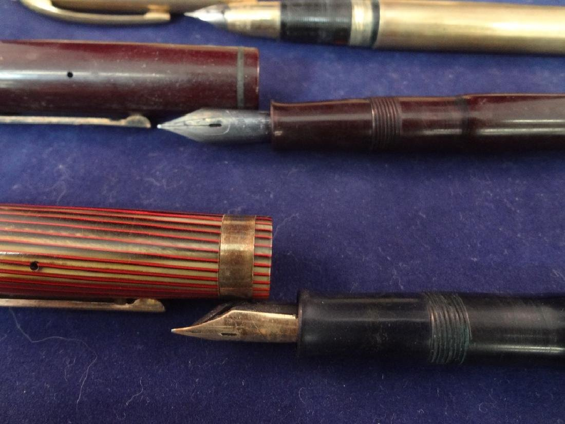 (7) 14k Gold Nib Fountain Pen Group: Sheaffer, - 4