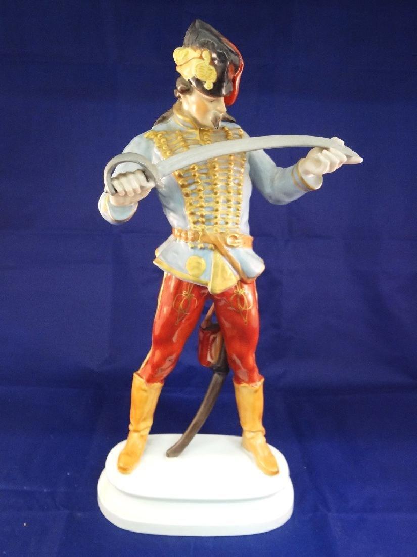 Herend Hungary Large Hadik Hussar Soldier Porcelain