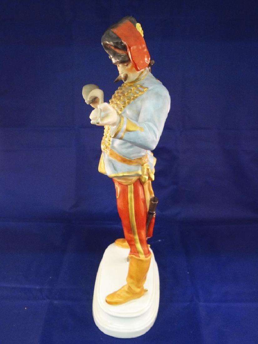 Herend Hungary Large Hadik Hussar Soldier Porcelain - 4