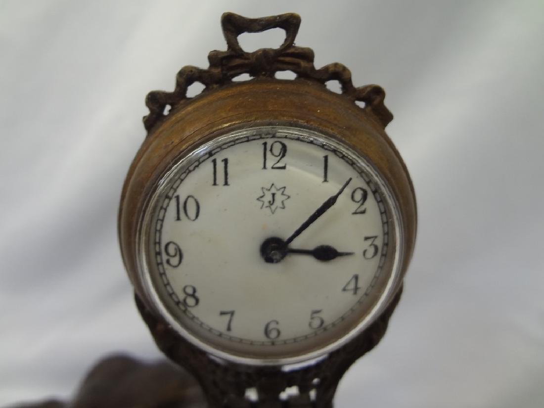 Jungham German Patinated Spelter Elephant Clock - 2