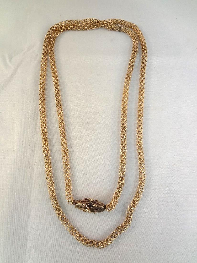 18k Gold Fancy 19th Century Necklace High Filigree