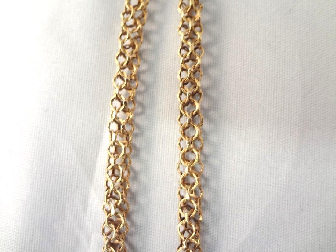 18k Gold Fancy 19th Century Necklace High Filigree - 3