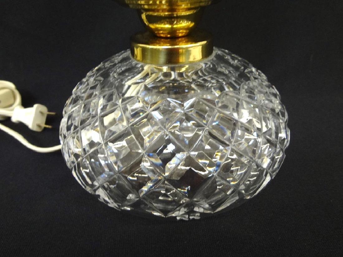Waterford Crystal Tulip table Lamp Squat Base - 3
