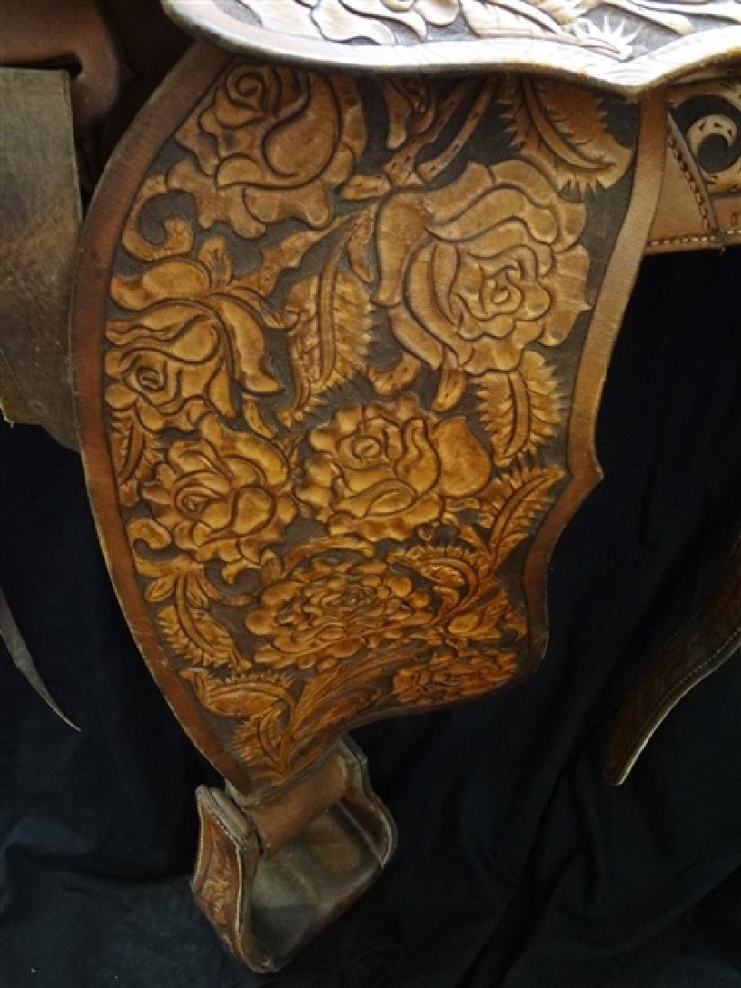 1960's Authentic Imperial Tex-Tan Western Saddle Hand - 3