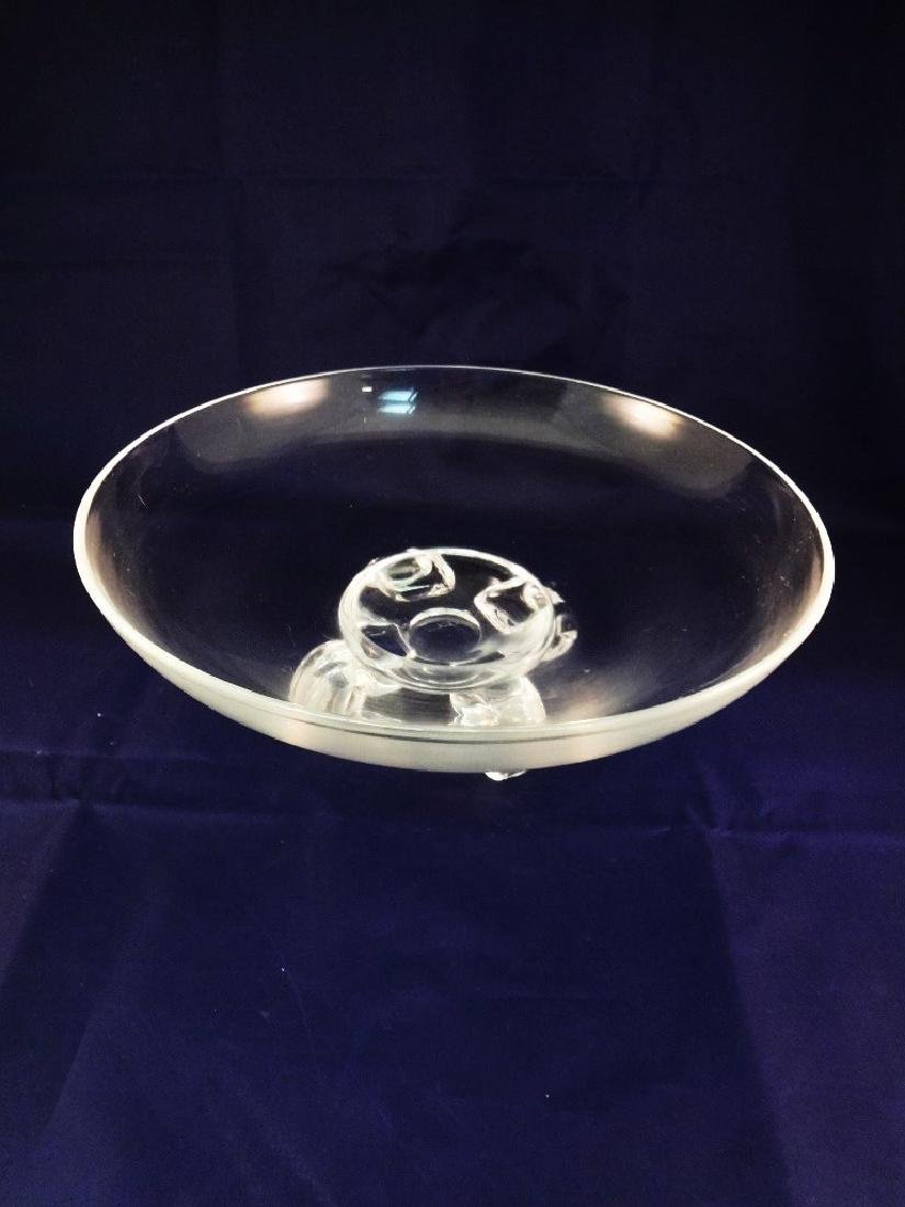 "Steuben Glass Footed Bowl 10.5"" Diameter"