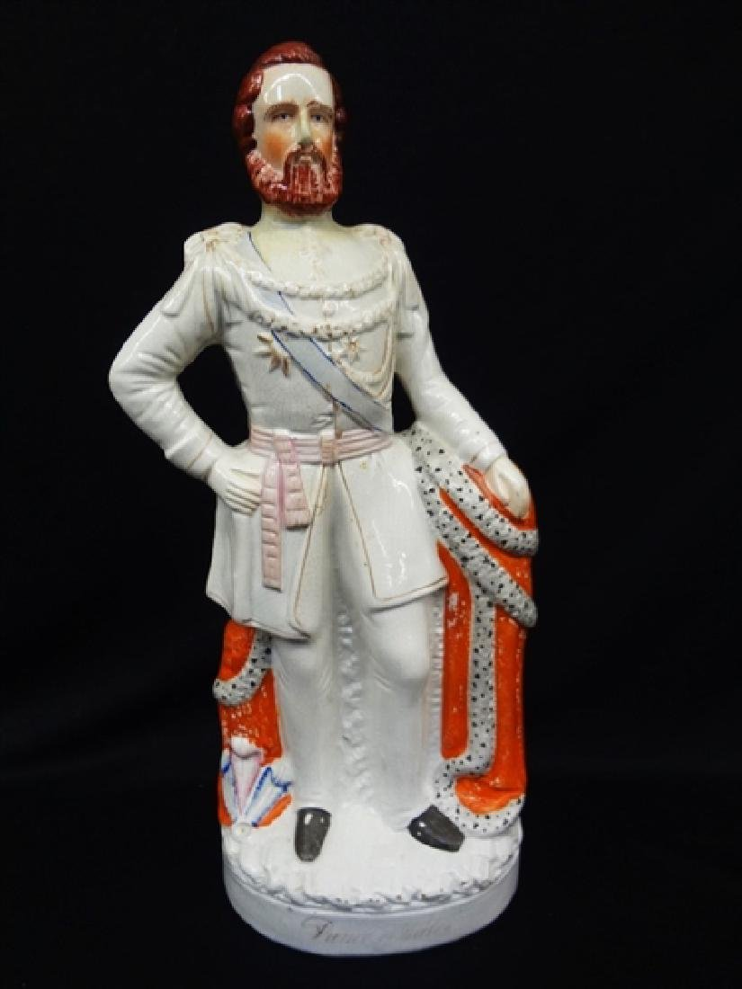 "Staffordshire Figurine 19th Century ""Prince of Wales"""