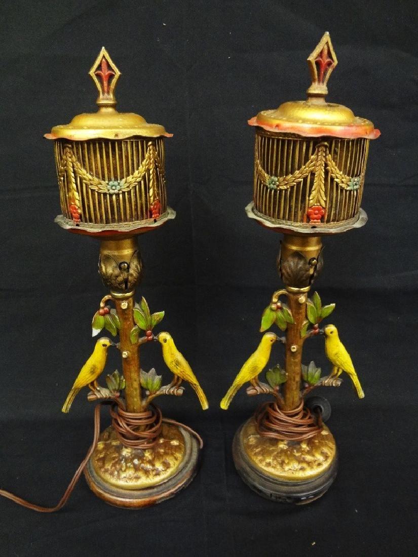 Bergman Cold Painted Bird Lamps
