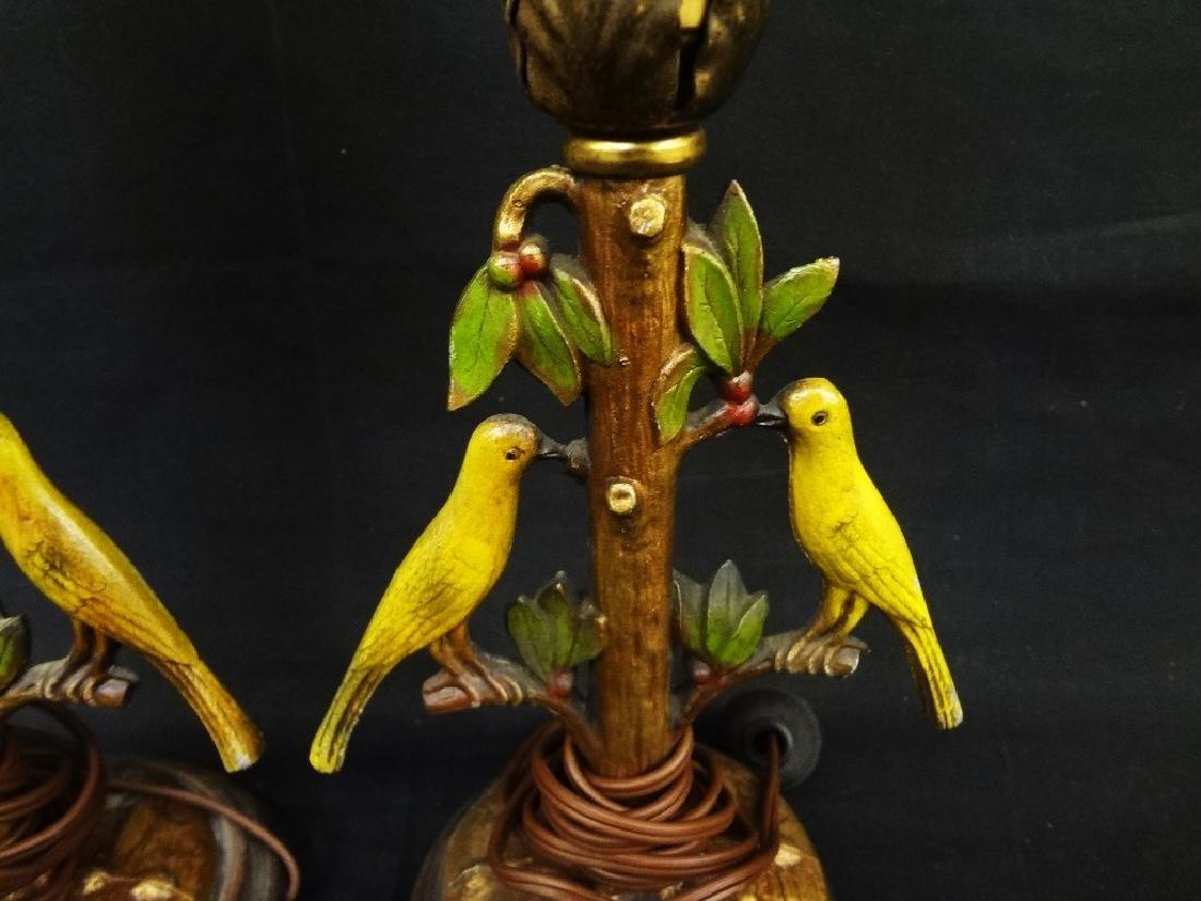 Bergman Cold Painted Bird Lamps - 2