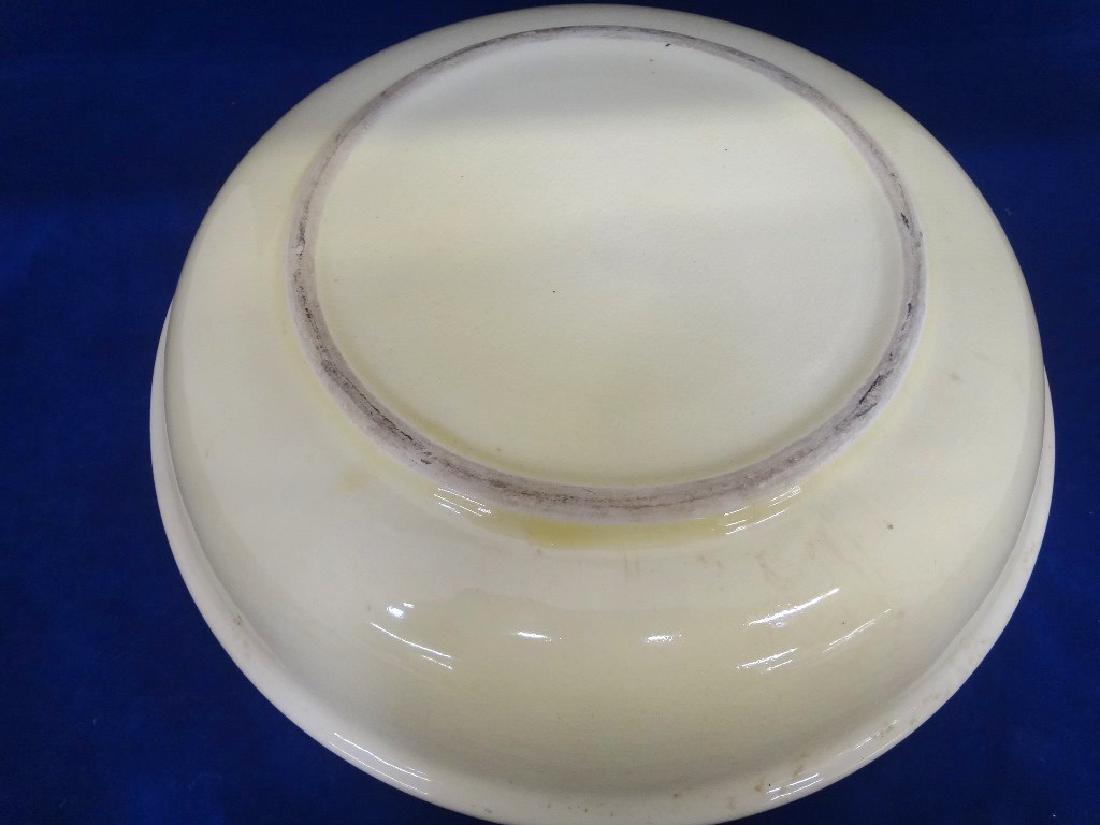 Art Nouveau Style Cream Transferware Serving Bowl - 4