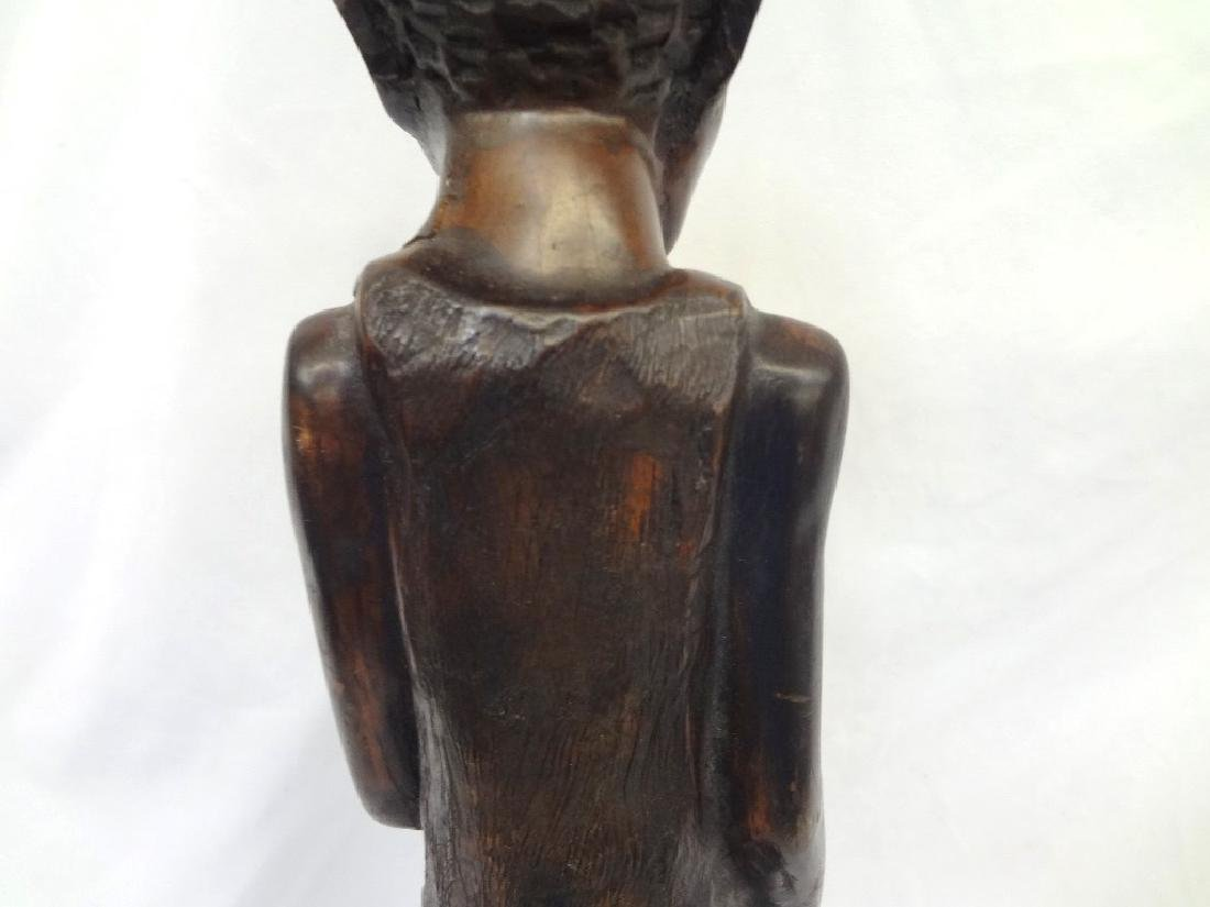 African Malawi Folk Art Hand Carved Man Smoking a Pipe - 7
